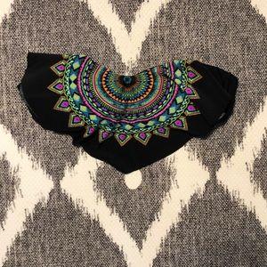 Tribal pattern bathing suit top